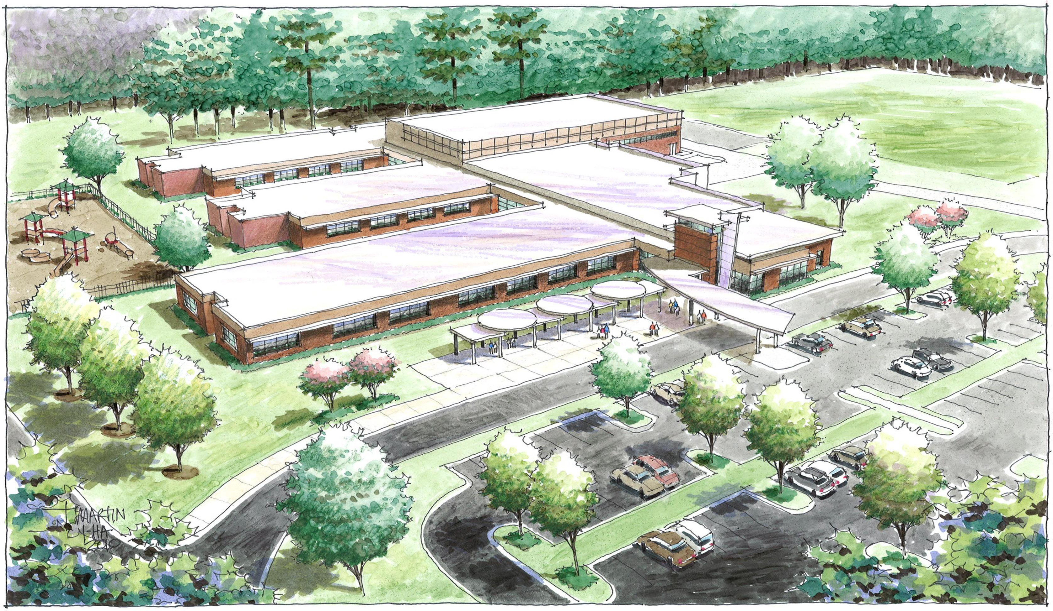 Kennesaw Charter School-Aerial-ret