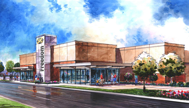 Freedom Church Exterior Rendering