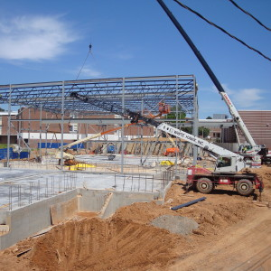 Performing Arts Center steel going up